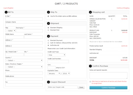 VP One Page Checkout - Style 1