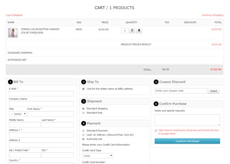 VP One Page Checkout - Style 2