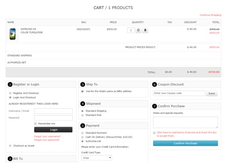 VP One Page Checkout - Style 4