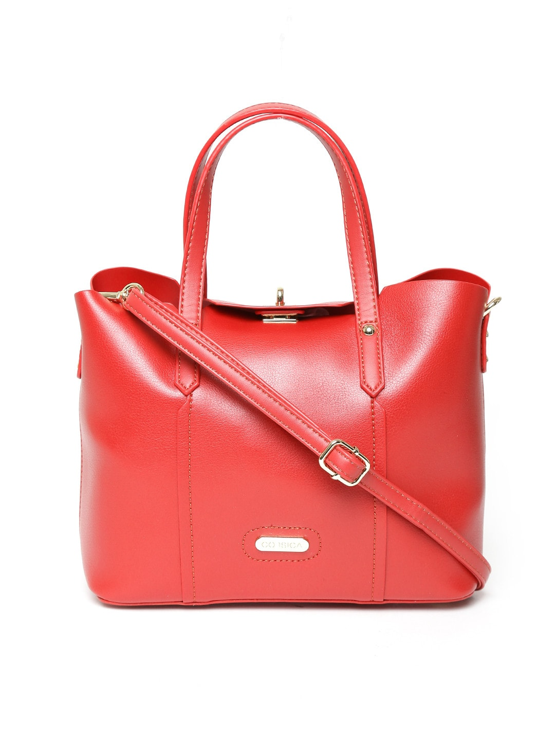 Red Handbag with Strap